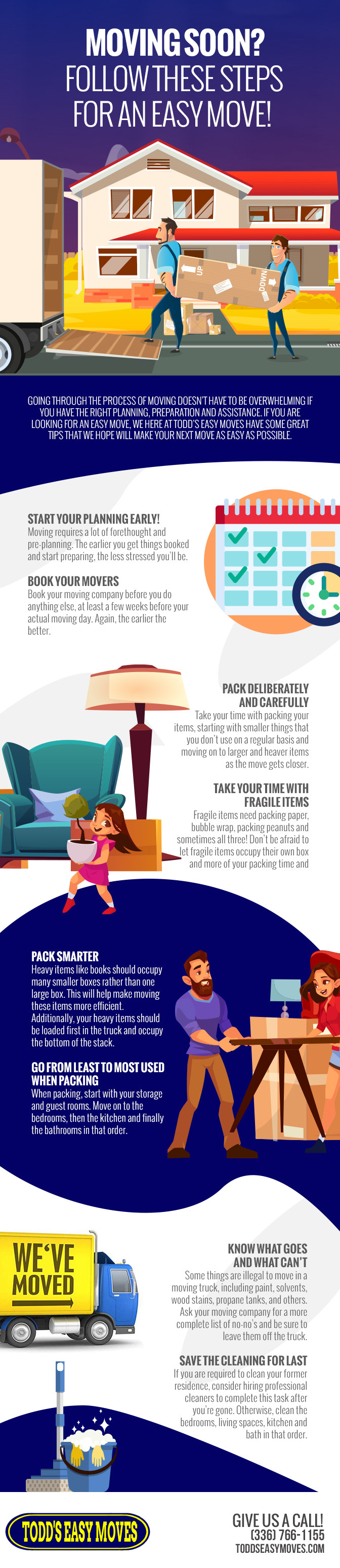 Moving Soon? Follow These Steps for an Easy Move! [infographic]